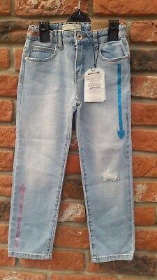 ZARA Girls Casual Slim Blue Jeans Denim 7 years 2