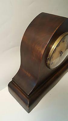 Large Antique Gilbert Mantle Clock w/key- Working 4