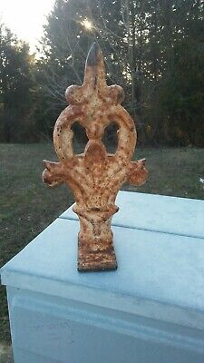 Antique Architectural Salvage Cast Iron Finial 2