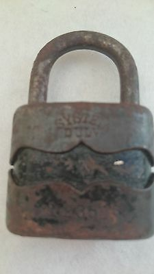 Vintage Solid Cast Iron Padlock System Dulv №35L No Key 2