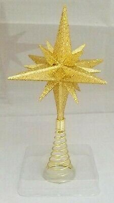 "Moravian Star Tree Topper Small Gold Christmas Acrylic 6"" Kurt Adler 2"