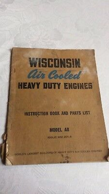 """(2) Vintage Operating Manuals """" WISCONSIN & BRIGGS  """"      Pac, 8 3"""