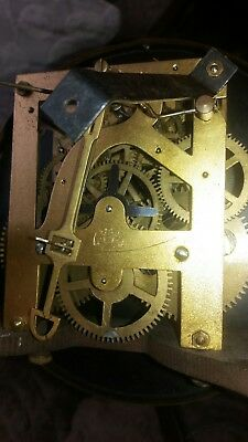 Antique English Oak Wall Clock Jahresuhrenfabrik- Triberg Germany Movement 7