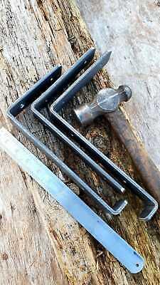 Shelf Brackets Scaffold Board Heavy Duty Industrial Rustic Handmade 205MM 225MM 2