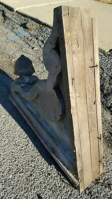 (2) Antique Shabby Chic Victorian Wooden Corbels Brackets Distressed Salvaged #3 8