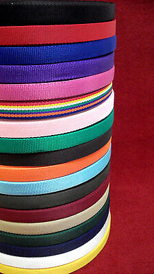 5 Metres Of 25mm Webbing 20 Colours,Bags,Straps,Handles,Dog Leads,Collars,Crafts