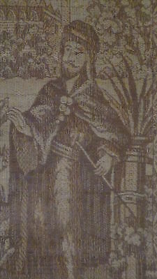 Antique18C  Islamic Persian Hand Woven Tapestry With A Mosque On Distance,framed 4