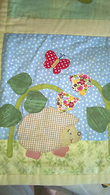 Handmade Baby Applique Play Mat Throw Wall Hanging Animal Design Cute 110Cm X 10