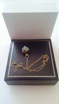 Fabulous Ancient Eastern Mediterranean  Bead And 14K Gold Chain Vintage Necklace 12