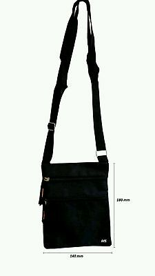 Unisex Cross Body Over Shoulder Large Holliday Travel Side Adjustable Black Bag 2