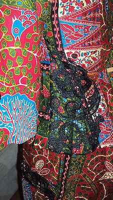 Ankara African Print Burgundy & Green Multi Skirt & Fitted Top UK 10-12 4