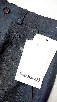 Kinder Jungenhose Cacharel Marke grau 6 Jahre Leinen 118 cm gerade UVP £ 140 5