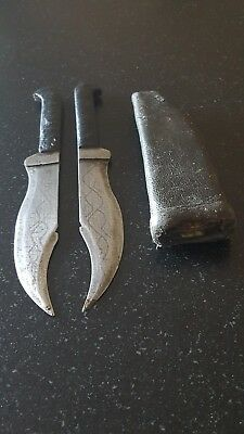 Antiques razor knives  Eastern Europe? Turkey Bosnie Greece dagger-ottoman 5