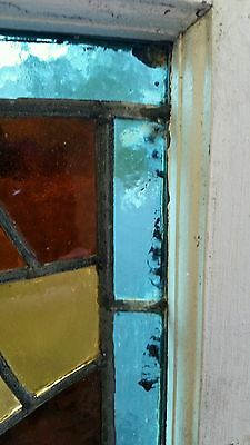 Antique American Aesthetic  Stained Leaded Glass Window 7