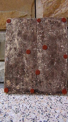"ANTIQUE 18c-19c ARABIC ISLAMIC POTTERY GLAZED ""FLOWERS"" WALL PLAQUE 9"