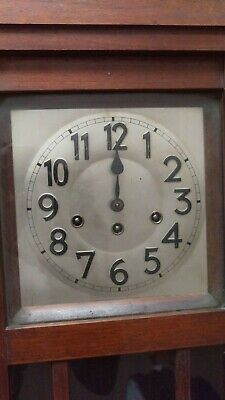 Antique Wood wall clock, British rail 2