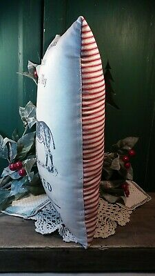 Comical Christmas Donkey Pillow Homestead Farm Country Decoration Primitive 5