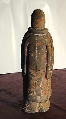 Chinese Northern Zhou Pre-Tang Pottery Warrior Gardian Figure 557 A.d. 5