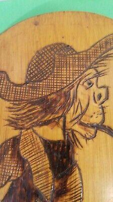 Vintage Hand Burned Wood  Hobo Man Figurine  Folk Art 2