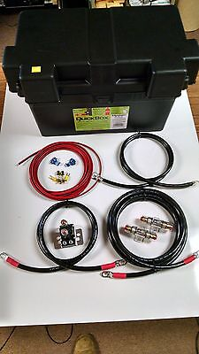 Extreme Duty Dual / Aux Battery Isolator & 2 Gauge Cables - Complete Kit! 150A 2