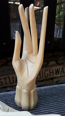18cm  1 Paar Eben Holz Hand Hände Ring Schmuck Halter