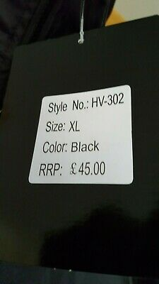 KAPTON Men's HiViz High Visibility Safety Security Coat Black XL RRP £45 8