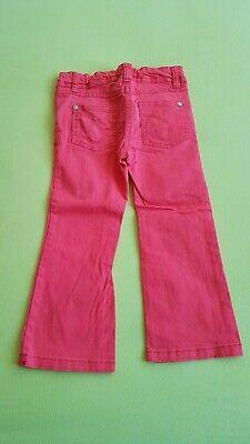 Topolino Lange Hose Mädchen 98 Rosa Weitenregulierung Jeanshose Stoffhose 4