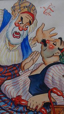 "Rare1920 Constantinople Street Scene""yok! Oxl!"" Original Watercolor Painting 3"