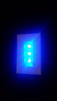 Long Multi Color Rectangle Crystal Display 4 LED Light Base 4