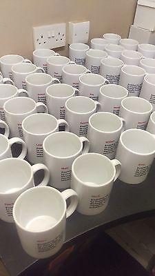 Business Branded Printed Mug-Any,Logo,name or text-Bulk Buy from £1.50ea ex vat 7