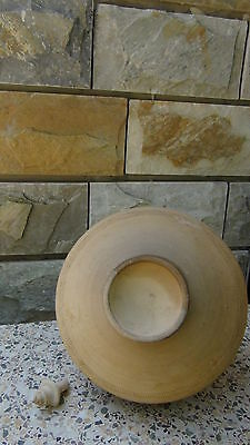 """Antique Early 20C Afgani Islamic Carved Pottery Clay Ornamental Ever,signed 13""""h"""