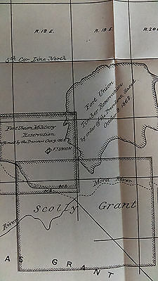1880 Sketch Map, Plat of Mora Grant, Fort Union Military Reservation 2