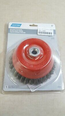 Norton 6 X .020 X 5/8-11 /Carbon Steel//Knotted Wire Cup Brush 2