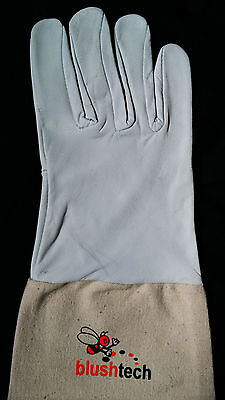 Beekeeper Beekeeping Bee gloves 100% Leather & Cotton Zean gloves Pair UK Seller 6