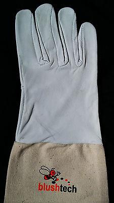 Beekeeper Beekeeping Bee gloves 100% Leather & Cotton Zean gloves Pair UK Seller 6