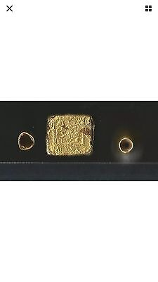 Ancient Neareast Asian Gold Finial & Plaque Group 3