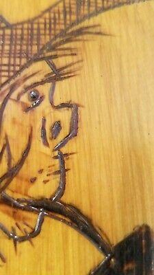 Vintage Hand Burned Wood  Hobo Man Figurine  Folk Art 5