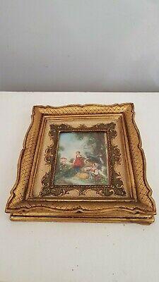 Miniature d'après François Boucher Peinture ancienne. painting miniature 2 2