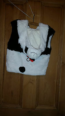 Jiglz Kids Panda Fluffy Body Warmer With Panda Face Hood M/l New With Tags 2