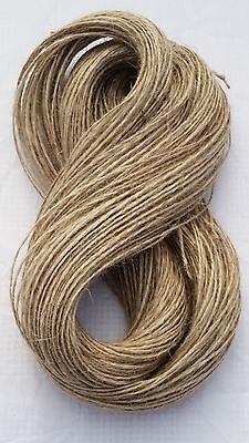 50M 2ply Jute Twine Sisal String Soft Natural Brown Burlap Rustic Cord  Hessian 3