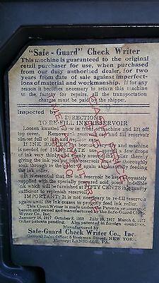 Antique/Vintage Safe-Guard Check Writer Model G (Rare)...Collectors Item 7