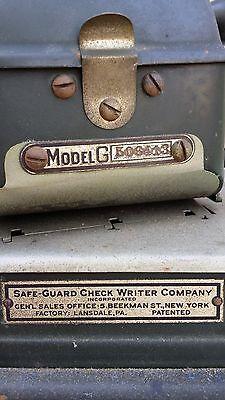 Antique/Vintage Safe-Guard Check Writer Model G (Rare)...Collectors Item 8