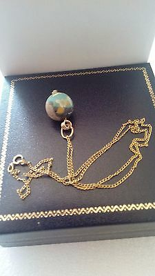 Fabulous Ancient Eastern Mediterranean  Bead And 14K Gold Chain Vintage Necklace 11