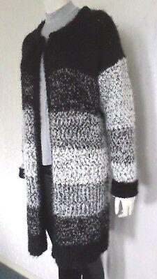 1e9750fb04 ... 2 verfügbar Kuschelige Damen-Jacke Strickjacke Strickmantel Cardigan  Schwarz/Weiß Gr.36 NEU 3