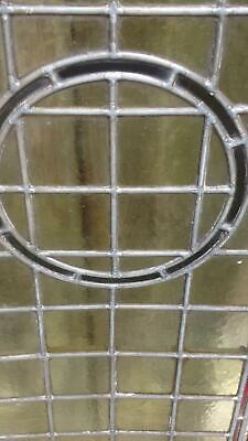Architectural Antique Victorian Arts & Crafts Bullseye Leaded Glass Window Frame 5