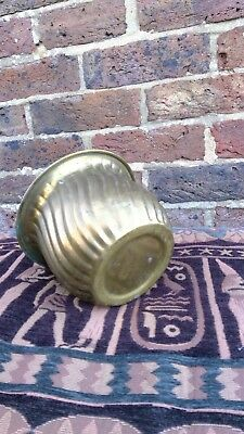Vintage. Quality Brass Planter Plant Pot. Twisted style.