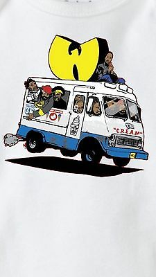 Onesie Wu Tang Ice Cream Truck (Baby shower, New Born, C.R.E.A.M., 36 Chambers)