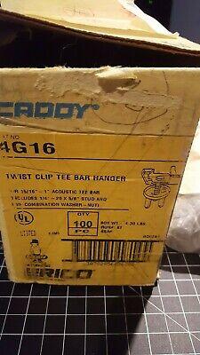 "Lot 22 Caddy 4G16 Twist Clip Tee Bar Hanger For 15/16"" -1"" Acoustic Tee Bar 3"