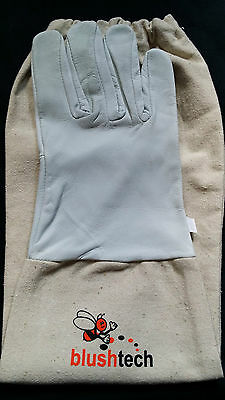Beekeeper Beekeeping Bee gloves 100% Leather & Cotton Zean gloves Pair UK Seller 4