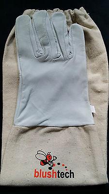 Beekeeper Beekeeping Bee gloves 100% Leather & Cotton Zean gloves Pair UK Seller 4